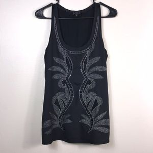 Express Black tank top with sequin detail size S